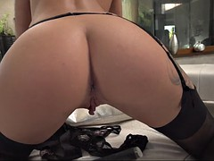 Anal, Blonde, Gode, Lingerie, Russe, Jouets