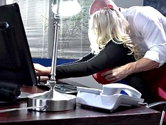 Fucking with Thick Blonde Secretary