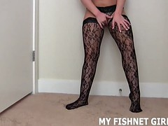 i picked up some sexy new fishnets to tease you in joi