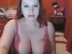 Busty Milf Masturbating Cam Model