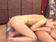 Alexis Crystal gives a slippery massage