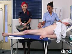 Brit nurse domina jerking