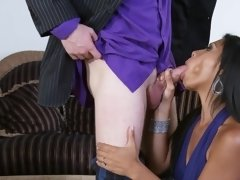 A hot latina lets her large natural shake as she is getting boned
