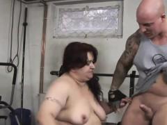 Kinky trainer bangs a fat slut