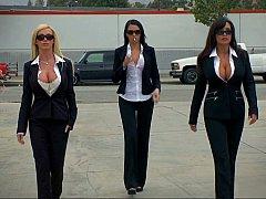 Американки, Большие сиськи, Блондинки, Две девушки, Группа, Милф, Стриптиз, Униформа
