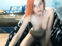 Ginger Teen Enjoying Vibration Sex From The PLUSHCAM Toy