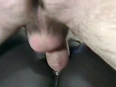 black cunt stretched with white cock