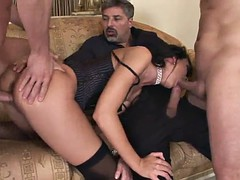 suzie diamond gets a double penetration in a threesome
