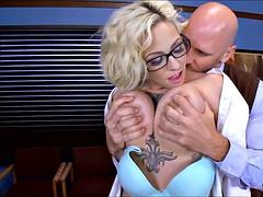 Blonde Schoolgirl wants the Dean's Cock