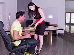 Big Titty Footsie Fucked On Desk