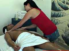 Asian masseuse tugging for extra tip
