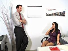 Большие сиськи, Член, Секс без цензуры, В офисе, Тату
