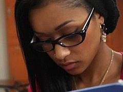 黒人, 共学, 大学生, 黒人, 眼鏡, ガリガリ, 生徒, オッパイの