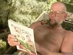 Sexy girl banging with ugly grandpa