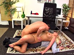julie cash makes out with coworker in front of her asian cuckold boy