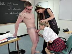 Blowjob Exam In The Classroom