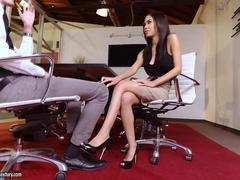Amazing Footjob in the office