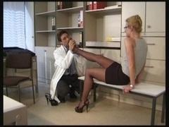 Stocking lover doctor