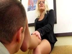 Sniffing Nylon Feet