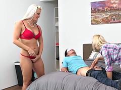 Holly Heart and Aubrey Gold hot threeway fuck