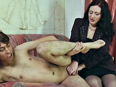 curly-haired guy gets prostate massage