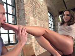 babes toes cum covered