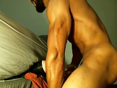str8 Muscle Black's cum...Don't say my girl friend