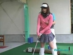 Oriental Broad Jerking And furthermore Blowing off Her Golf Instructor Phallus
