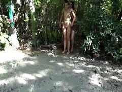 Naked Girl Falling Facefirst in Mud 2