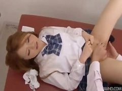 Sakamoto Hikari is given a gyno exam by a utterly excited doctor