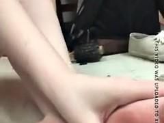Cute Boho Teen in Knee High Socks Masturbation and Foot Play