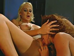 accepting lesbian with natural tits enjoying her pussy being fingered and licked in reality shoot