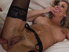 Brandi Love taking shower after sex