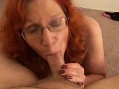 Glasses Are Sexy, Red Unshaved Mother Blowjob2