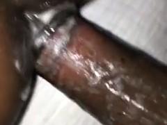 Amateur Late night sex creampie