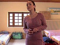 Dormitorio, Morena, Linda, Consolador, Europeo, Grupo, Orgía, Fiesta