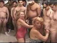 two granny gang breeding gang-fuck