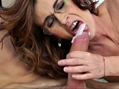 a young guy with big cock fucks a mature granny in glasses mayna may