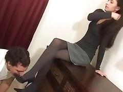 Pieds, Femme dominatrice, Fétiche des pieds, Nylon, Jarretelles