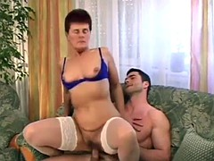 mature gal gets her pussy drilled Hairy