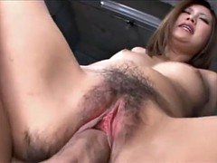 Shapely Japanese girl fucked and creampied