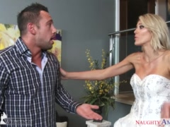 Horny blonde Audrey Show gets fucked at wedding - Naughty America