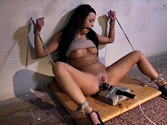 Submissed.com Daphne Klyde ball gagged and rope tied