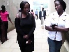 Curvy African lesbians make love