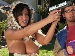 Lisa Ann is cougarine, the soccer mom avenger who loves to get down and dirty