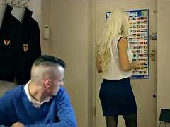 Blonde Teacher Titty Fucks Teen Student