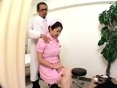 Bodacious Asian nurse with sexy legs gets her fabulous body