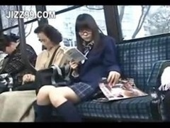 schoolgirl seduced and also fucked by geek on bus