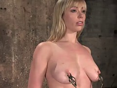 kinky blonde sucks and fucked her master's cock while tied up