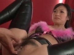 Sexy far eastern bitch gets aroused